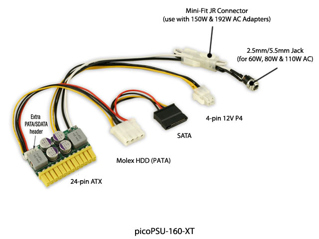 Fantastic How To Install A Remote Starter Thin Bulldog Security Wiring Round How To Rewire An Electric Guitar Dimarzio Pickup Wiring Young Fender 3 Way Switch Wiring SoftRemote Starter Diagram Mini Itx.com   Store   PicoPSU 160 XT 12V Plug In DC ATX PSU (192W ..